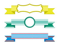 设计要素丝带被设置的向量 图库摄影