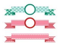 设计要素丝带被设置的向量 免版税库存照片