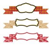 设计要素丝带被设置的向量 免版税库存图片