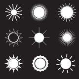设计要素图标被设置的星期日向量 库存例证