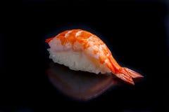设计要素菜单餐馆有用虾的寿司非常 免版税库存照片