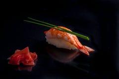 设计要素菜单餐馆有用虾的寿司非常 免版税图库摄影