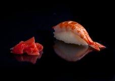 设计要素菜单餐馆有用虾的寿司非常 库存照片