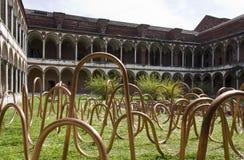设计设施在设计星期期间在米兰洗手间修道院  库存图片