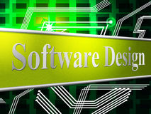 设计设计显示图模型和软件 免版税库存图片