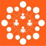 设计象在橙色背景人的人分支 免版税库存图片