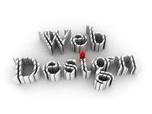 设计选址万维网 免版税库存照片