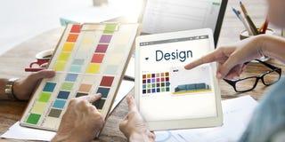 设计选择色板显示图表概念 库存图片
