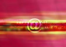 设计邮件红色万维网 库存图片
