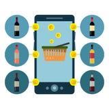 设计酒精网上商店的Infographics 向量Illustratio 向量例证