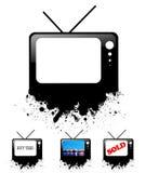 设计集合文字电视广播 免版税库存照片