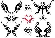 设计集合纹身花刺 库存照片