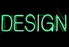 设计霓虹灯广告 免版税图库摄影
