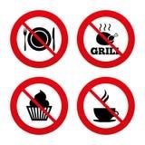设计食物图标例证向量您 松饼杯形蛋糕标志 叉子,刀子 库存照片