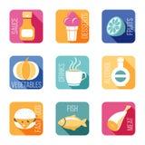 设计食物图标例证向量您 库存例证