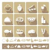 设计食物图标例证向量您 库存图片