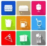 设计食物图标例证向量您 免版税库存图片