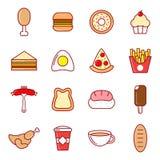 设计食物图标例证向量您 免版税库存照片