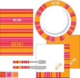 设计餐馆模板 免版税图库摄影