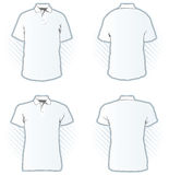 设计马球集合衬衣模板 库存图片