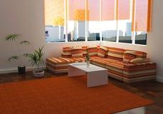 设计高雅内部居住的现代空间 向量例证