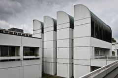 设计鲍豪斯建筑学派存档博物馆,在柏林 免版税库存照片
