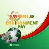 设计,世界环境日事件的背景 库存照片
