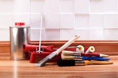 设计,维护,公寓布局  免版税图库摄影