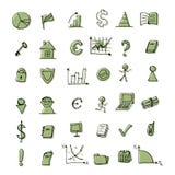 设计财务图标设置了您 免版税库存图片