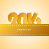 设计贺卡,新年好2016年 免版税图库摄影