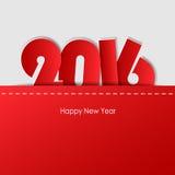 设计贺卡,新年好2016年 免版税库存图片