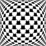 设计黑白照片翘曲的网格图形 免版税库存照片