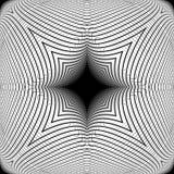 设计黑白照片翘曲的网格图形 免版税图库摄影