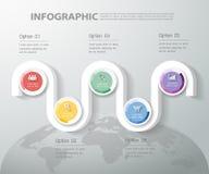 设计bussiness概念的Infographic模板 库存照片