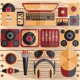 设计dj和音乐题材的传染媒介例证 库存图片