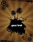 设计grunge棕榈树 库存照片