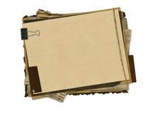 设计grunge水平的纸张 免版税库存图片