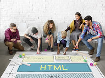 设计HTML网络设计模板概念 免版税图库摄影