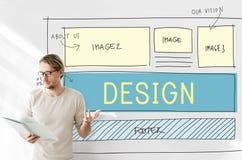 设计HTML网络设计模板概念 库存照片