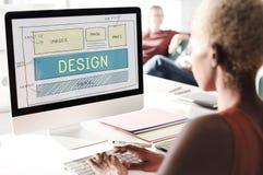 设计HTML网络设计模板概念 免版税库存照片