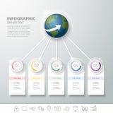 设计Infographic企业概念的5步 免版税库存图片