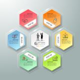 设计infographic模板6选择 库存照片