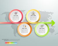设计infographic模板4选择 皇族释放例证