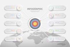 设计infographic模板 库存照片