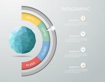 设计infographicTemplate 免版税库存照片