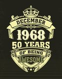 设计T恤杉五十年是令人敬畏的 库存例证