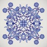 设计tem的蔓藤花纹葡萄酒典雅的花卉装饰印刷品 免版税库存照片