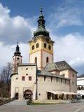 城市城堡在Banska Bystrica 库存照片