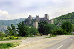 设防老塞尔维亚石头 库存照片