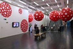 画廊访客在伦敦 库存图片